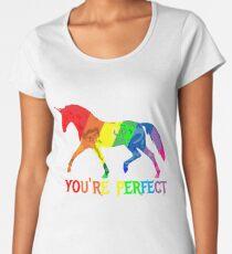 Rainbow Flag - Magical Unicorn - You're perfect! - faith and truth Premium Scoop T-Shirt