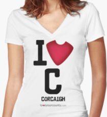 Cork Women's Fitted V-Neck T-Shirt