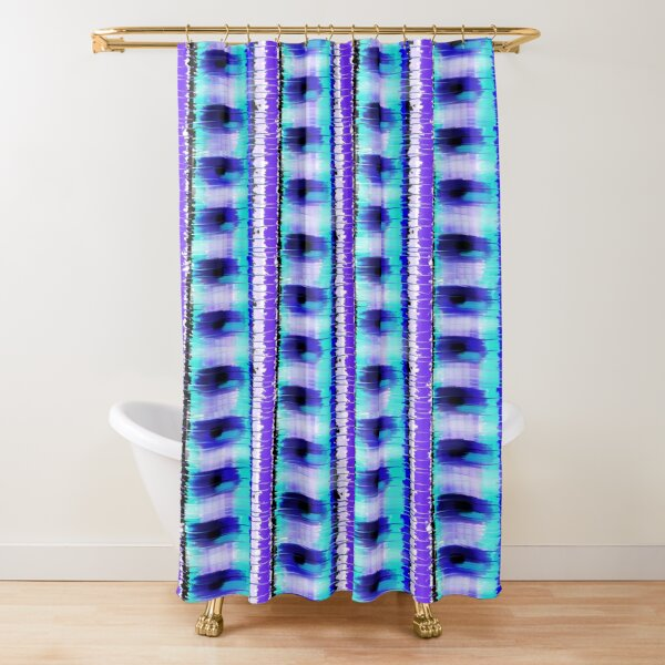 Line Striation Watercolor Abstract Shower Curtain