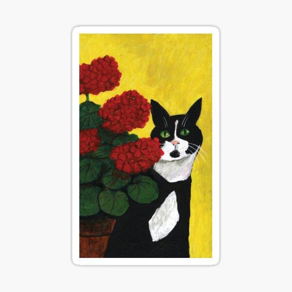 Cat Amongst the Geraniums 2 Sticker