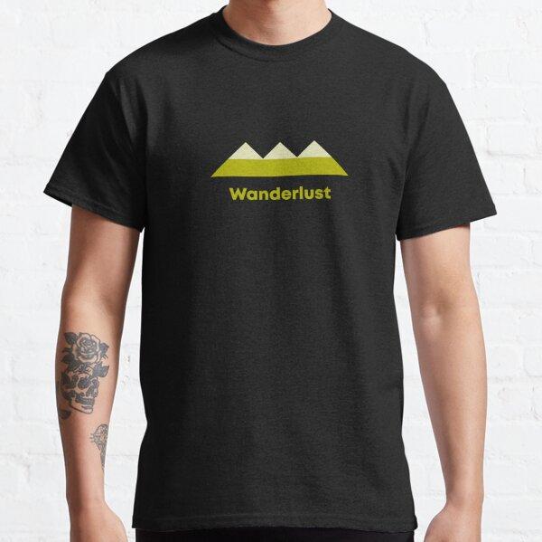 Modern geometric minimalist typography - Wanderlust Classic T-Shirt
