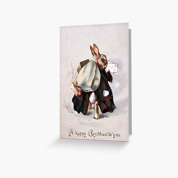 Lapin de Noël - Beatrix Potter Carte de vœux