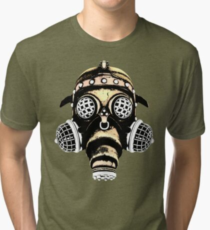 Steampunk / Cyberpunk Gas Mask #1B Steampunk T-Shirts Tri-blend T-Shirt