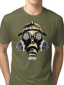 Steampunk / Cyberpunk Gas Mask #1B Tri-blend T-Shirt