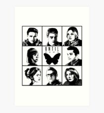 Until dawn - main characters Art Print