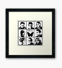 Until dawn - main characters Framed Print