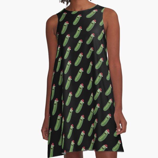 I'm a Christmas pickle Morty!!! (Rick & Morty) A-Line Dress