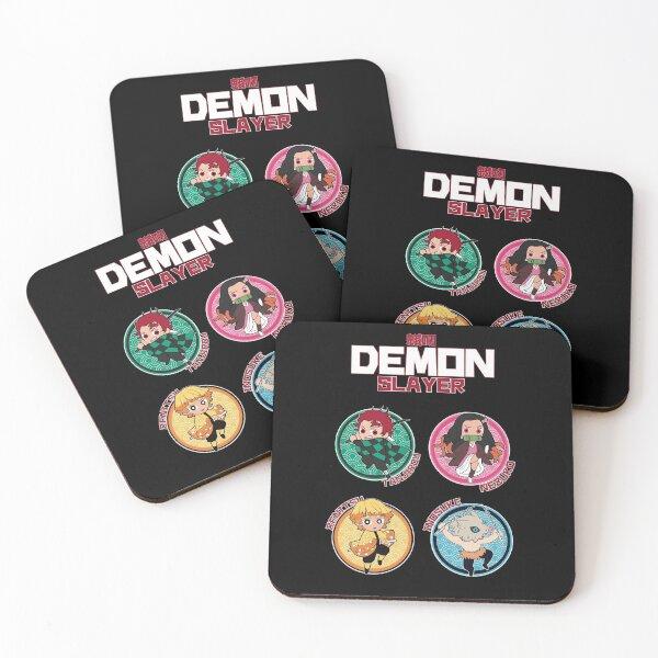 DEMON SLAYER (KIMETSU NO YAIBA): ALL CHARACTERS CIRCLE  Coasters (Set of 4)