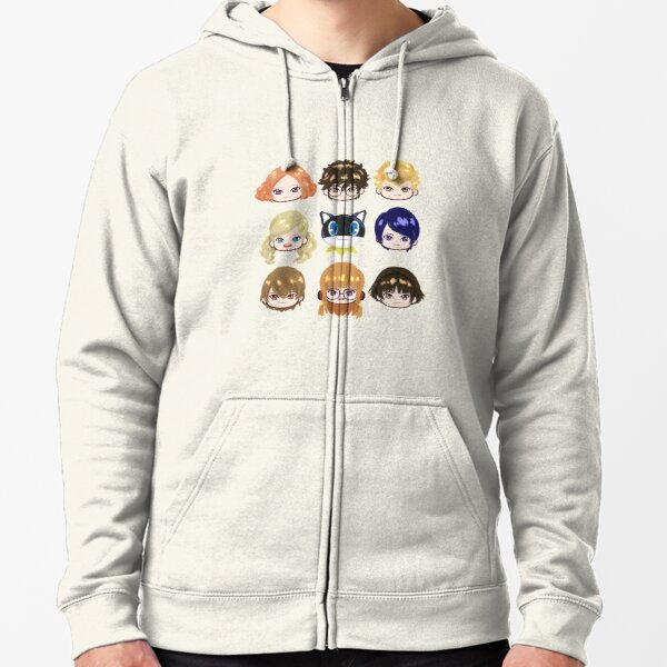 Persona 5 Main Characters  Zipped Hoodie