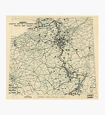 World War II Twelfth Army Group Situation Map December 3 1944 Photographic Print