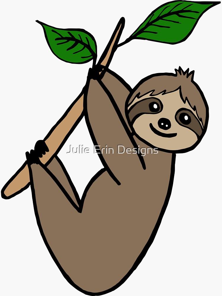 Cute Sloth by julieerindesign