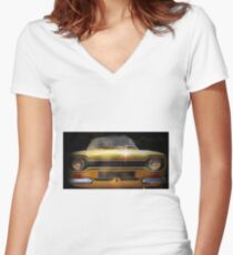 Vintage ford motor Women's Fitted V-Neck T-Shirt