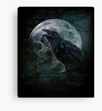 Moon raven skull Canvas Print