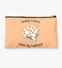 Peachy Kickers Wear Big Knickers! Studio Pouch