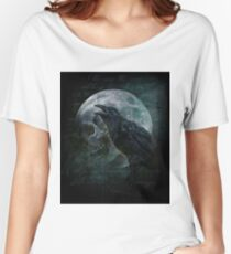 Moon raven skull Women's Relaxed Fit T-Shirt
