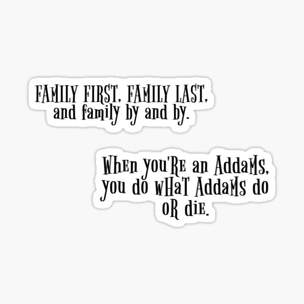 Addams Family Musical Stickers Sticker