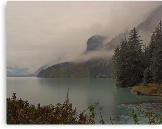 Chilkoot Lake in the Rain & Mist by Yukondick