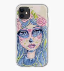 Sugar Skull Girl 1 of 3 iPhone Case