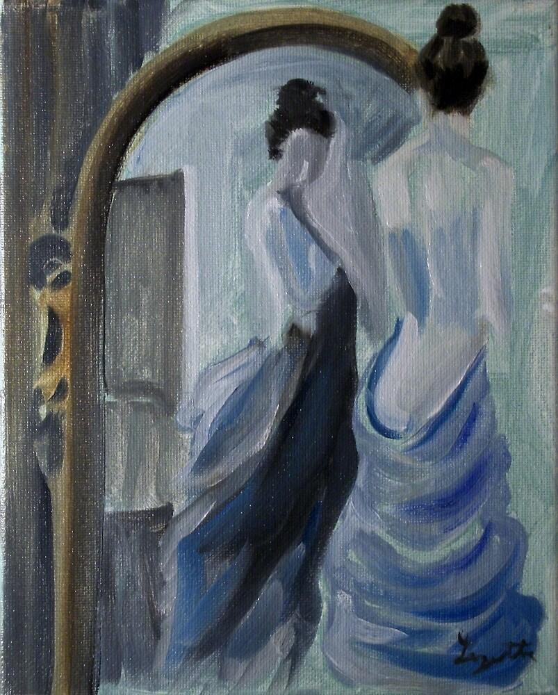 Blue Bath Towel by bugler