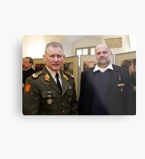Me and Lithuanian Armed Forces Commander Metal Print