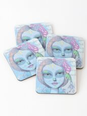 Sugar Skull Girl 2 of 3 Coasters