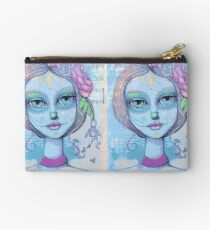 Sugar Skull Girl 2 of 3 Zipper Pouch