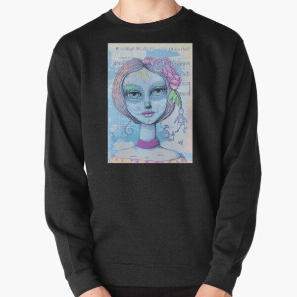 Sugar Skull Girl 2 of 3 Pullover Sweatshirt