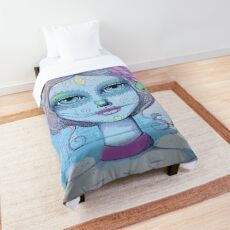 Sugar Skull Girl 2 of 3 Comforter