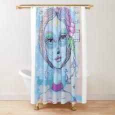 Sugar Skull Girl 2 of 3 Shower Curtain