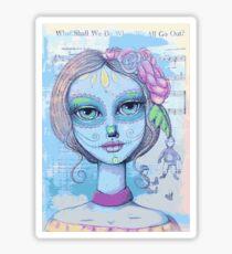Sugar Skull Girl 2 of 3 Sticker