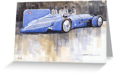 Bluebird world land speed record car 1931 by Yuriy Shevchuk