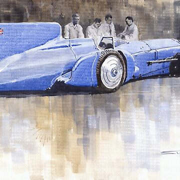 Bluebird world land speed record car 1931 by shevchukart