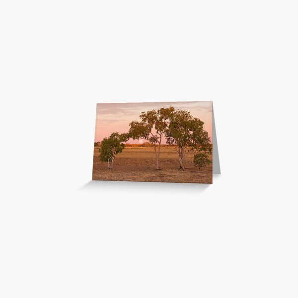 Outback Moonrise - Western Queensland Greeting Card