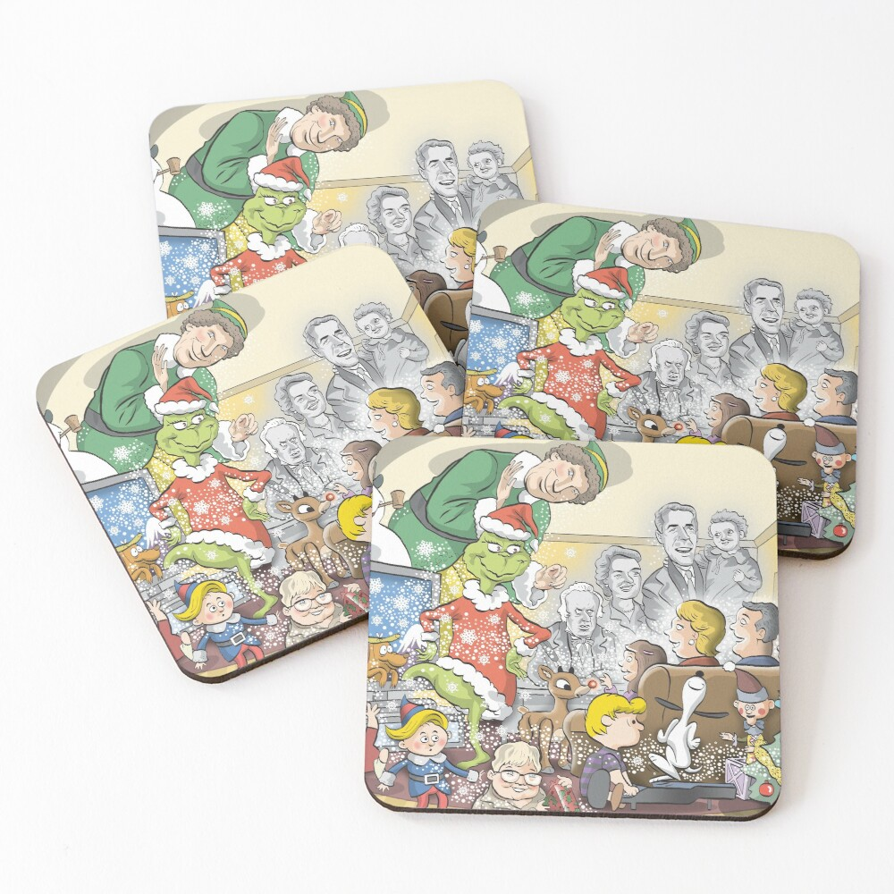 Christmas Classic characters Coasters (Set of 4)
