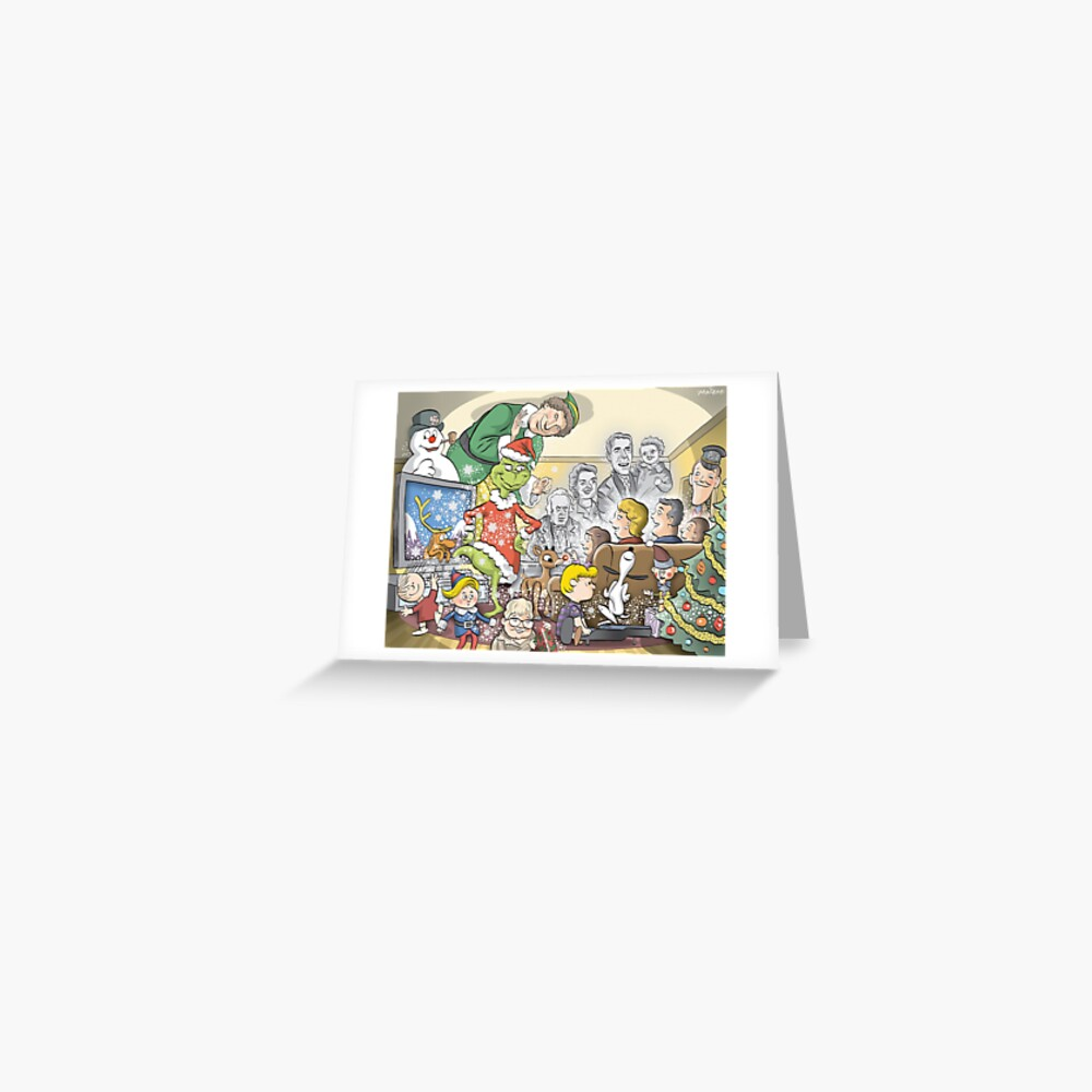 Christmas Classic characters Greeting Card