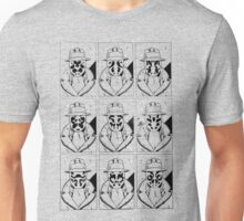 The many faces of Rorschach Unisex T-Shirt