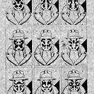The many faces of Rorschach by FAMOUSAFTERDETH