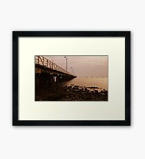 ghost pier Framed Print