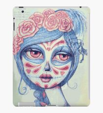 Sugar Skull Girl 3 of 3 iPad Case/Skin