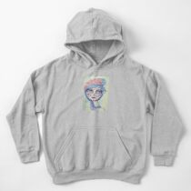 Sugar Skull Girl 3 of 3 Kids Pullover Hoodie