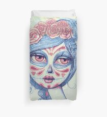 Sugar Skull Girl 3 of 3 Duvet Cover