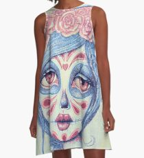 Sugar Skull Girl 3 of 3 A-Line Dress