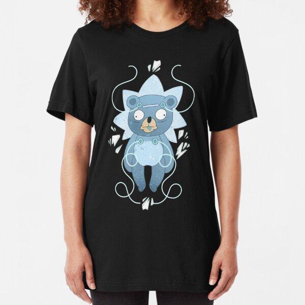 "Teddy Bear Rick - ""Nope."" Slim Fit T-Shirt"
