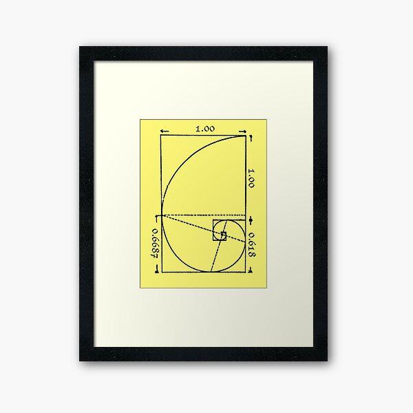 The Golden Spiral Framed Art Print