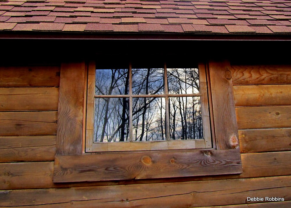 Crooked Window of Reflections by Debbie Robbins