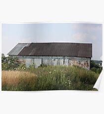 Old White Barn In Pennsylvania Poster