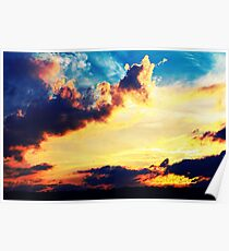Sunset Clouds Poster