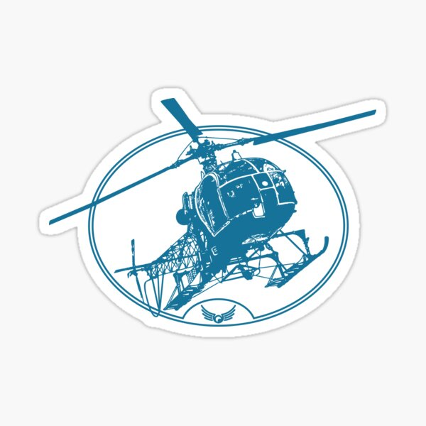 SA315 Llama Helicopter (Light Garments) Sticker