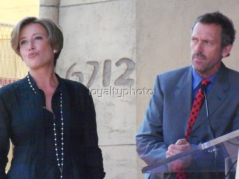 Hugh  Laurie and Emma Thomson by loyaltyphoto