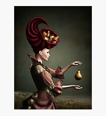 Madam Fruit and the levitating pear Photographic Print
